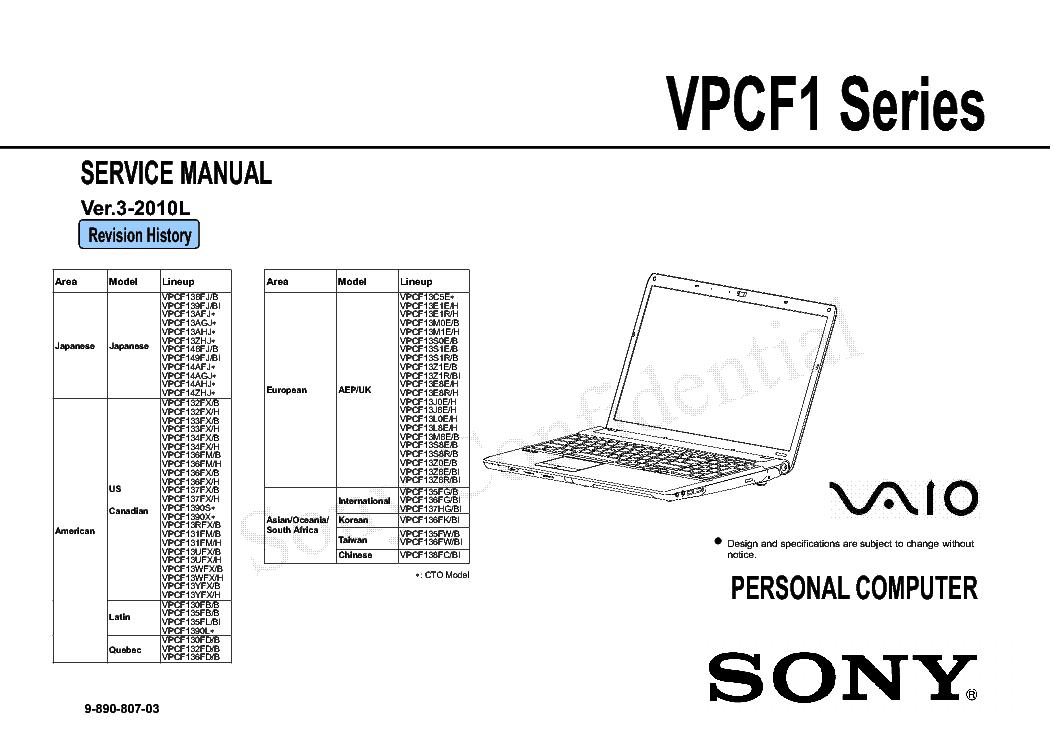 sony vpcf1 series ver 3 2010l service manual download schematics rh elektrotanya com Sony Vaio VPCF1 Drivers Windows 1.0 Sony VPCF1 Specs