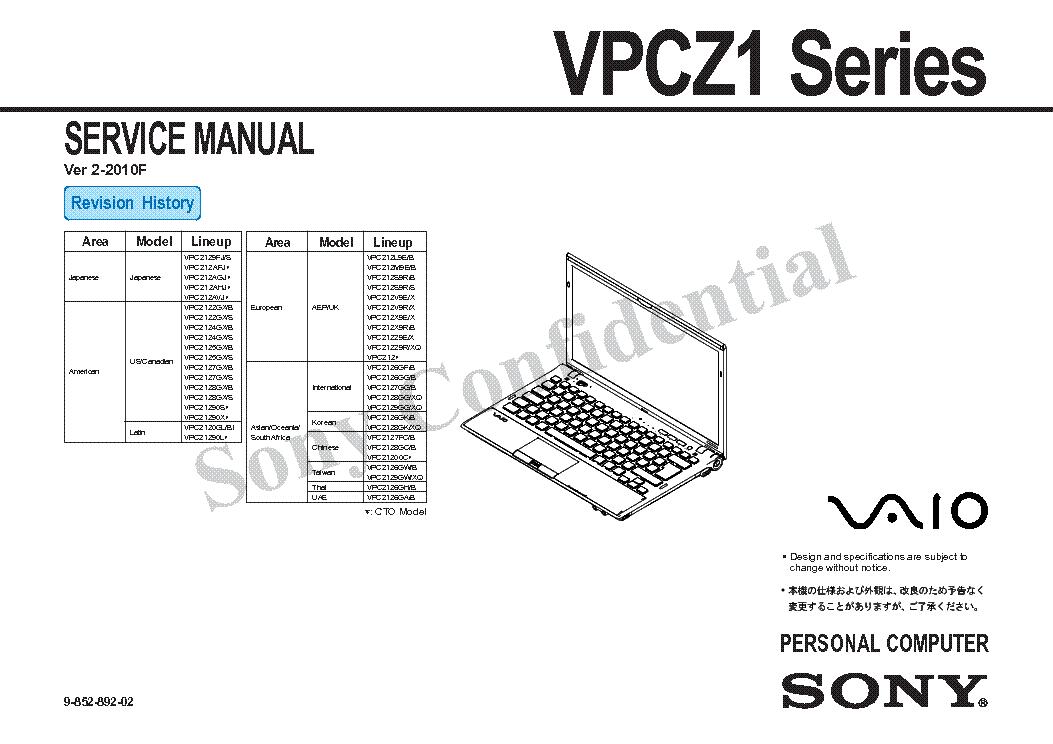 sony vpcz1 series ver2 2010f sm service manual download schematics rh elektrotanya com Appliance Repair Service Manuals Alfa Remeo Service Repair Manuals