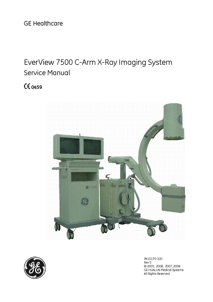 ge appliance schematics    ge    healthcare everview 7500 c arm x ray 2415170 100 sm rev     ge    healthcare everview 7500 c arm x ray 2415170 100 sm rev