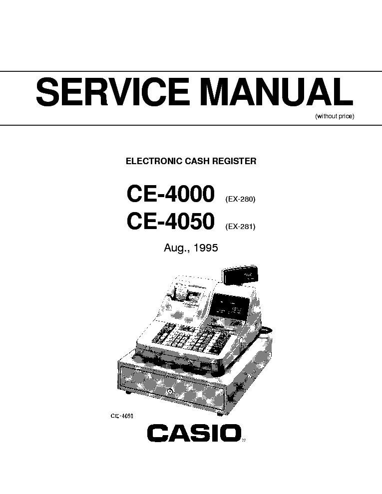 CASIO CE-4000 CE-4050 CASH REGISTER service manual (1st page)