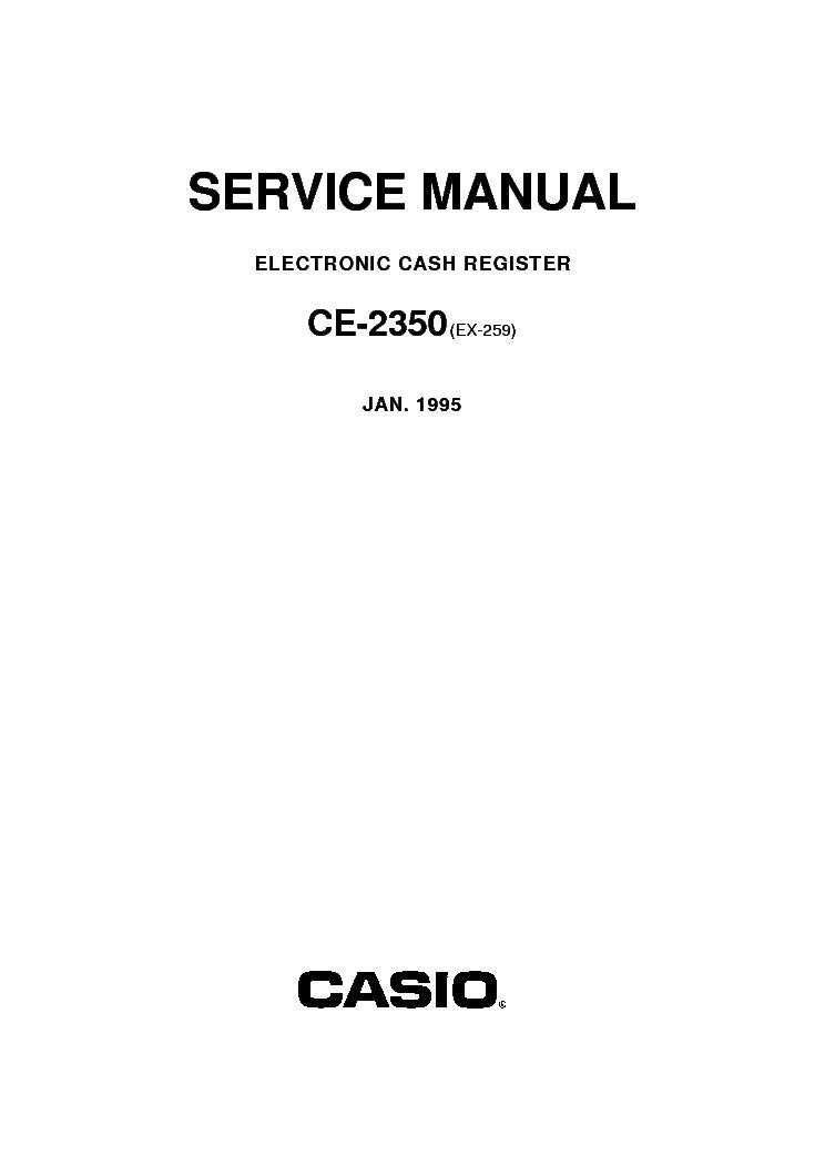 Casio cash register manual pdf.