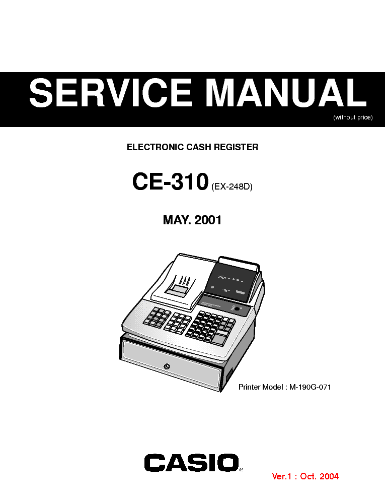 CASIO CE310 ELECTRONIC CASH REGISTER SM service manual (1st page)