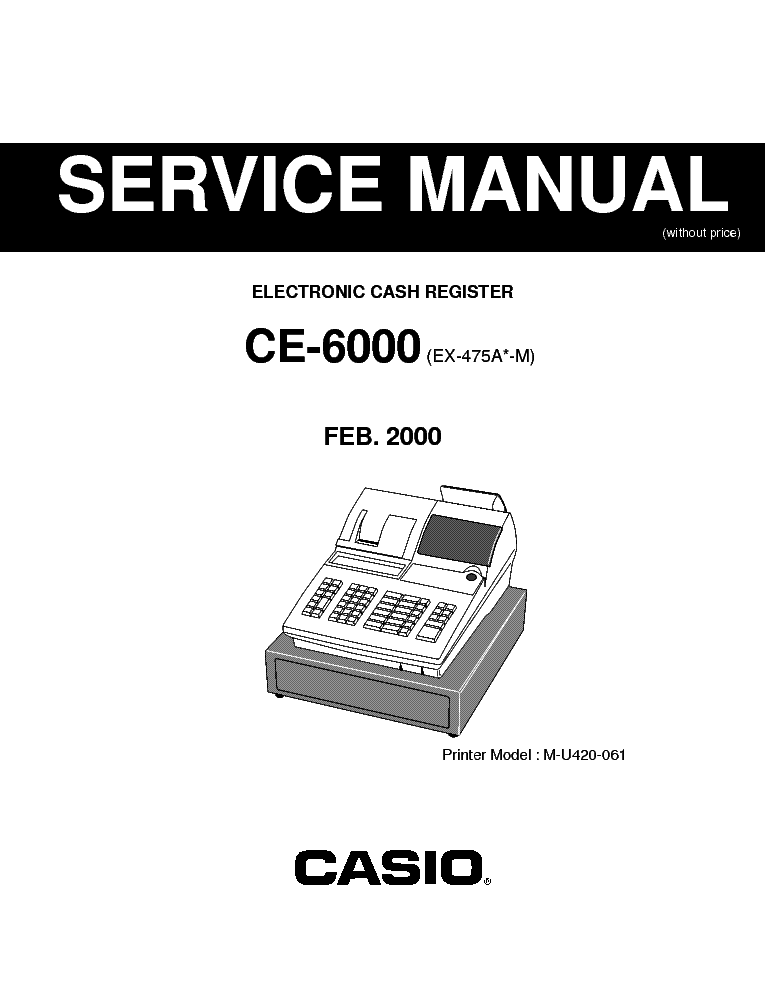 CASIO CE6000 ELECTRONIC CASH REGISTER SM service manual (1st page)