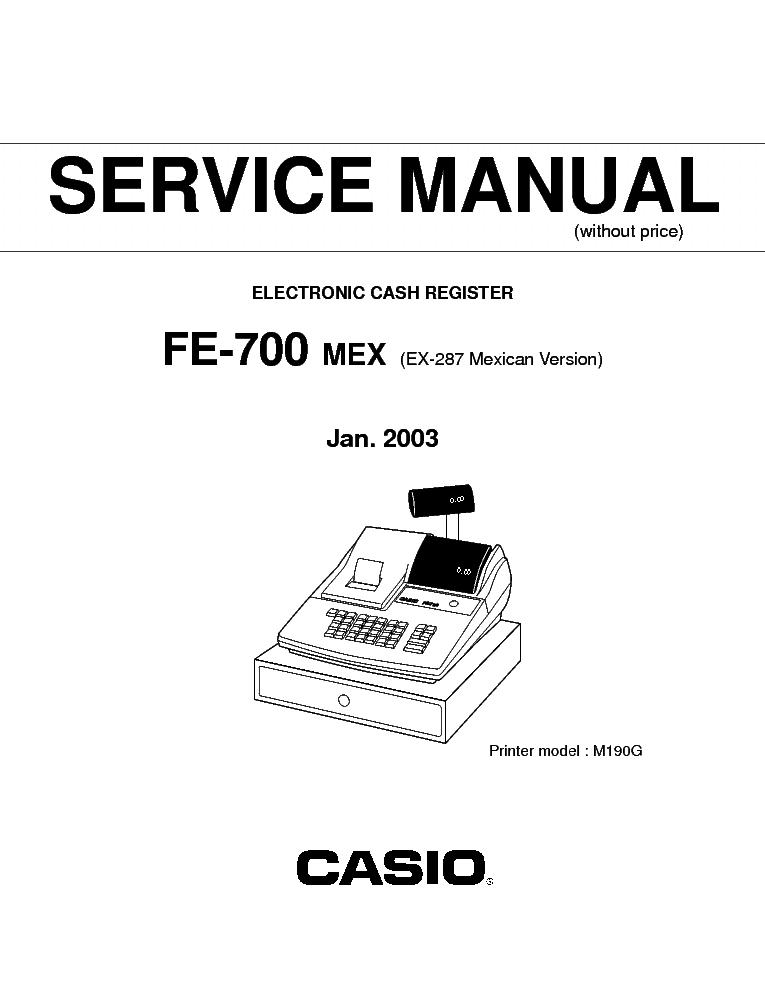 Casio ce-2350 cash register manual. Pdf google drive.