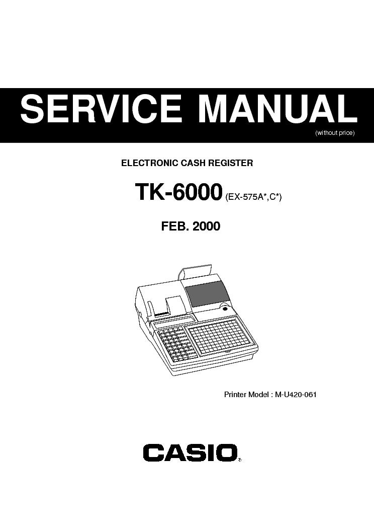 SMCO Cash Register Printer ribbon for Casio TK6000 TK6500 TK7000 ...
