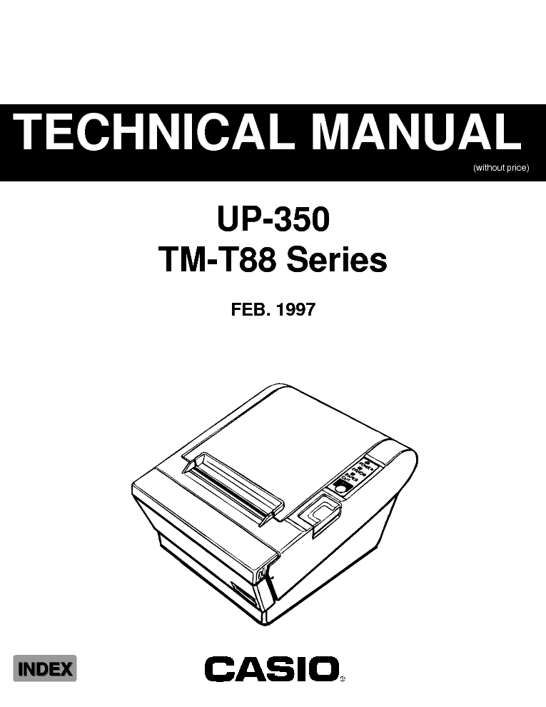 CASIO TMT88 ELECTRONIC CASH REGISTER SM service manual (1st page)