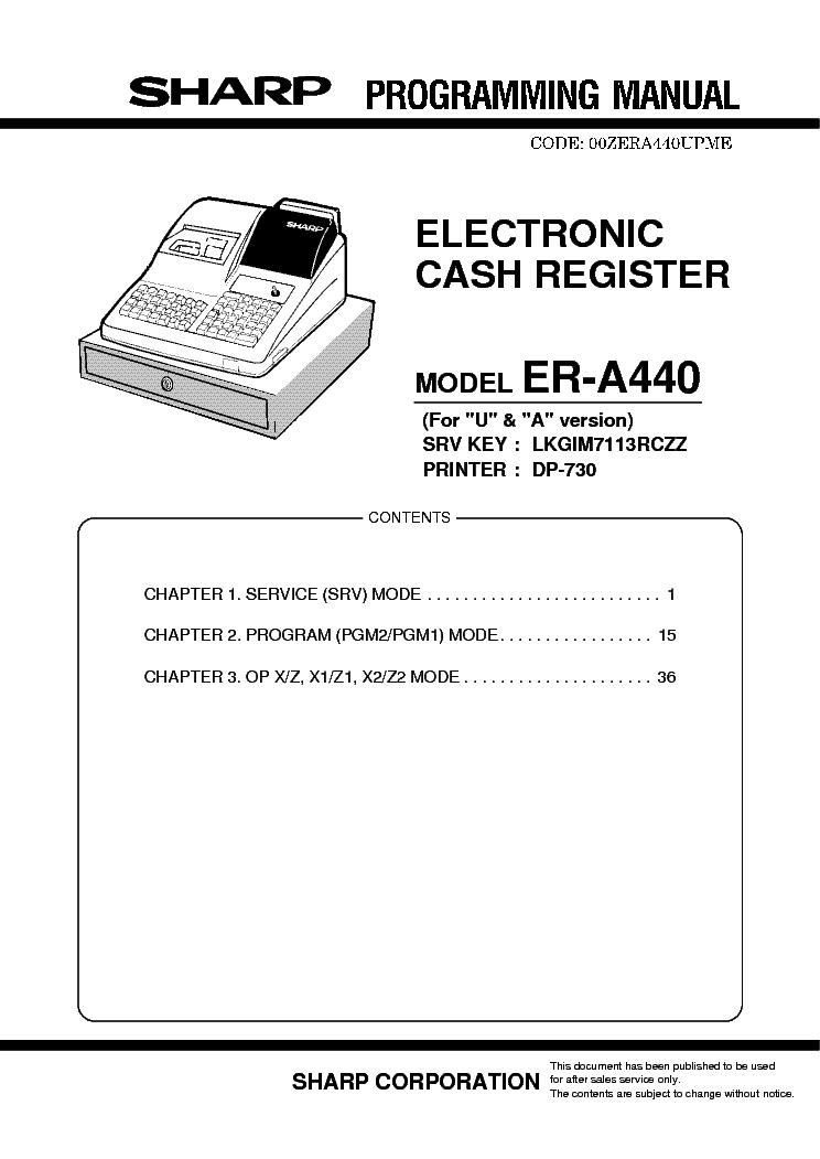 sharp er a440 programming manual service manual download schematics rh elektrotanya com A440 Tone Generator A440 Sound