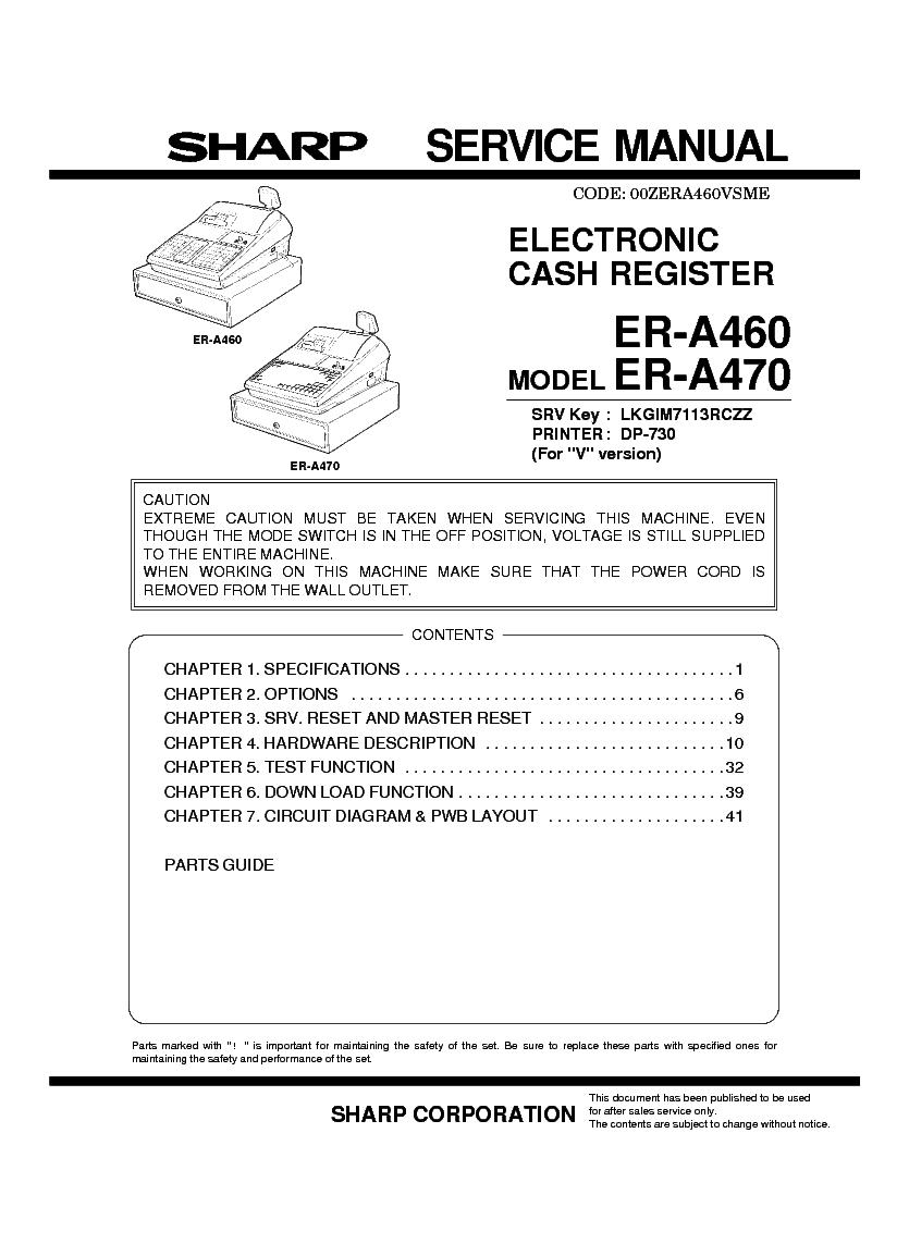 ... Array - sharp er a460 470 service manual download schematics eeprom rh  elektrotanya com