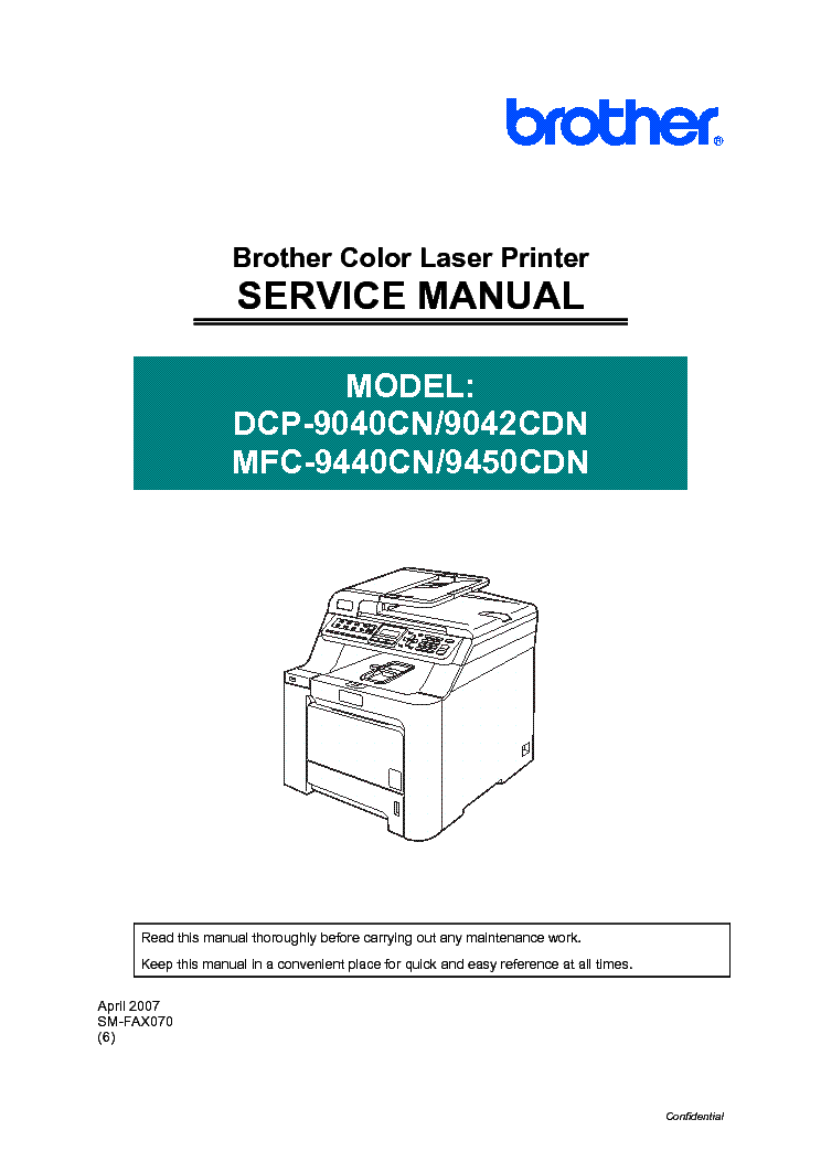 Brother mfc-9440cn user manual | 103 pages | also for: dcp-9045cdn.