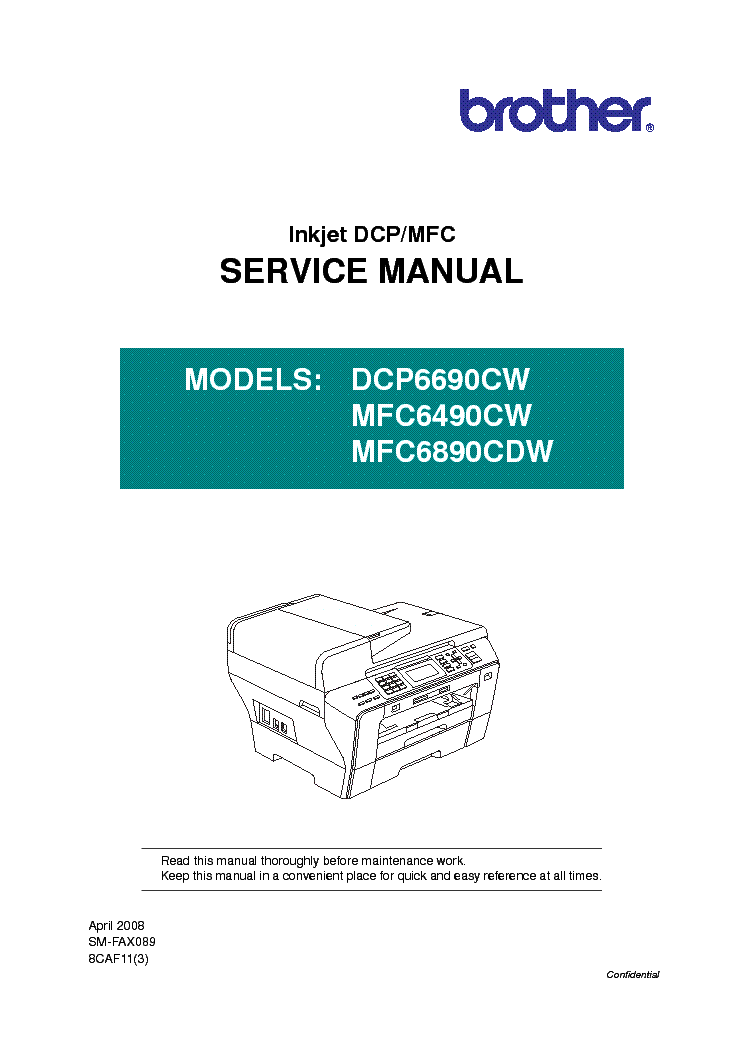 brother dcp6690cw mfc6490cw mfc6890cdw service manual download rh elektrotanya com brother service manuals brother service manual mfc l8850 cdw