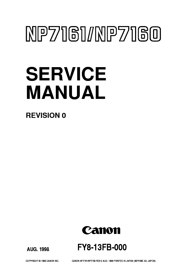 Инструкция К Копирам Canon