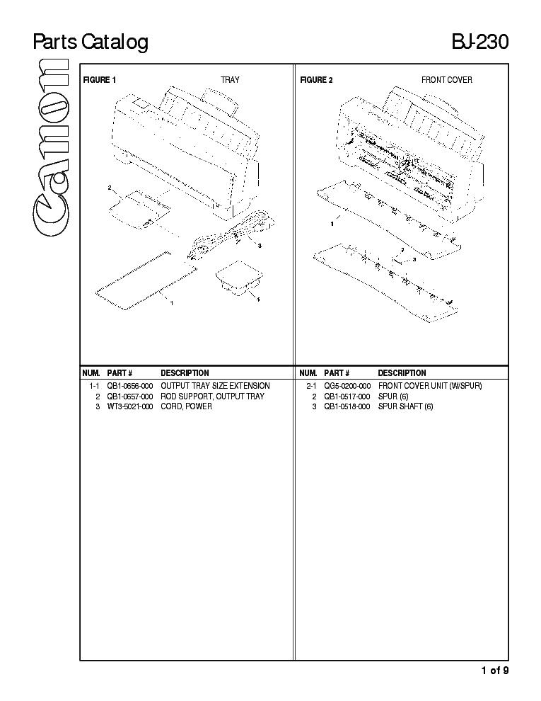 CANON BJ 230 PRINTER TREIBER