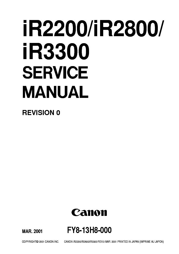 Canon ir2200 ir2800 ir3300 service manual | booting | ip address.