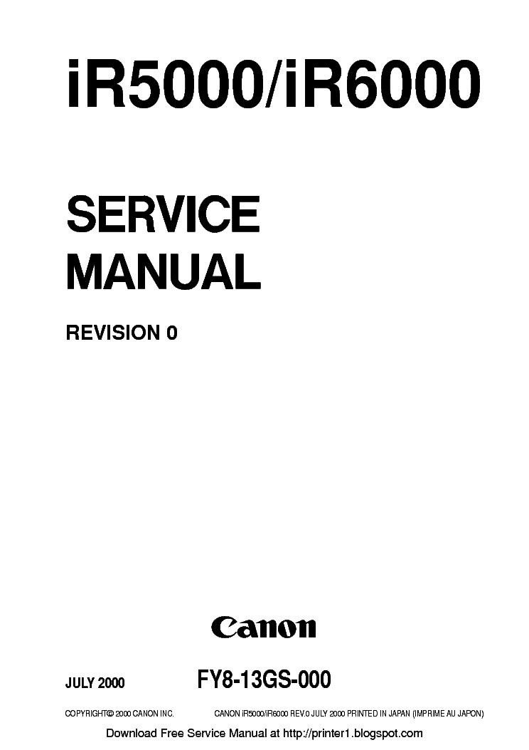 CANON IR5000 IR6000 SM service manual