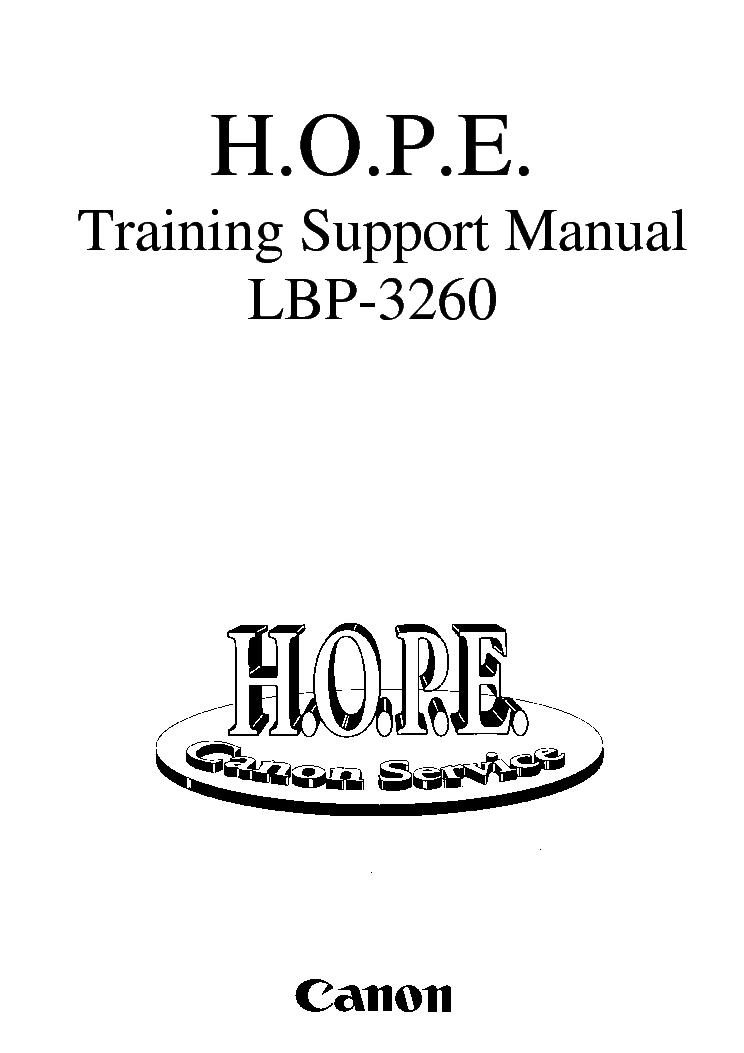 CANON LBP-3260TRAININGSUPPORT