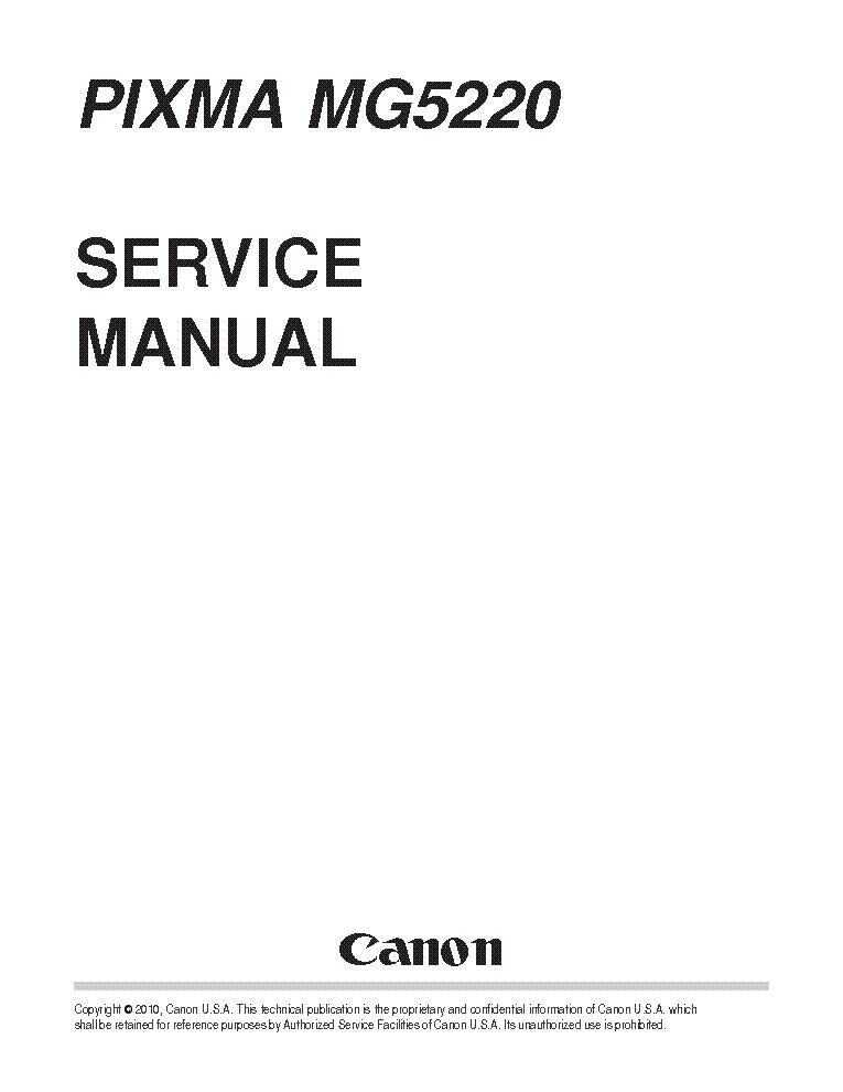 CANON PIXMA-MG5220 SM service manual