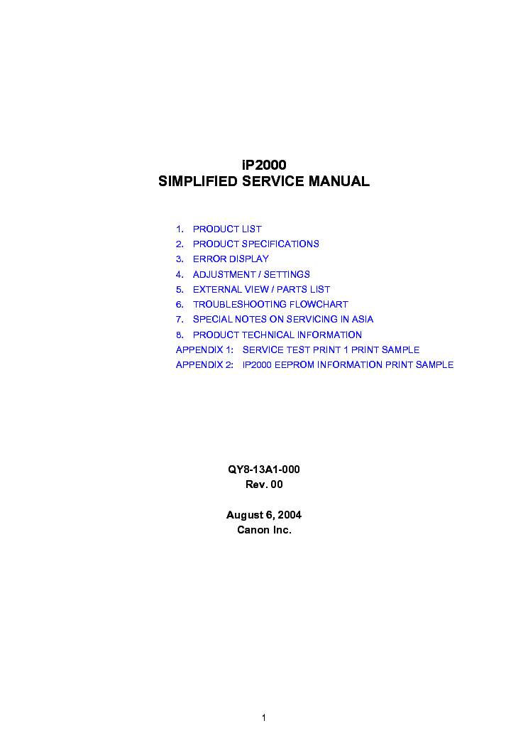 canon pixma mp600 service manual free download