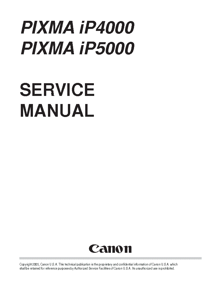 canon pixma ip4000 ip5000 sm service manual download schematics rh elektrotanya com Canon iP5000 Print Head Canon PIXMA iP5000 Printhead