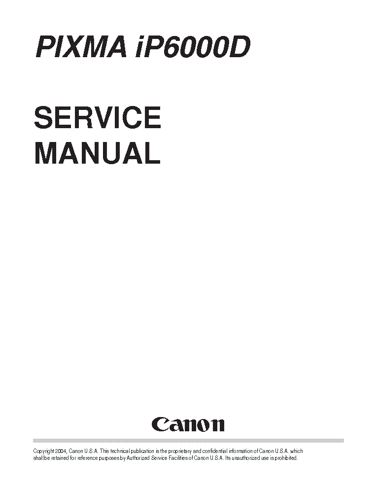 canon pixma ip6000d ip 6000 d service repair manual. Black Bedroom Furniture Sets. Home Design Ideas