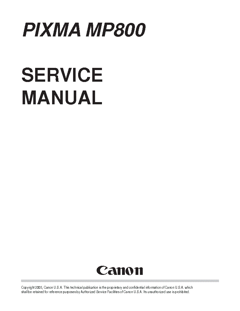 Canon pixma ip4200 service manual.