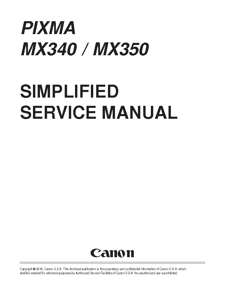 Canon knowledge base aligning the print head on an mx340.
