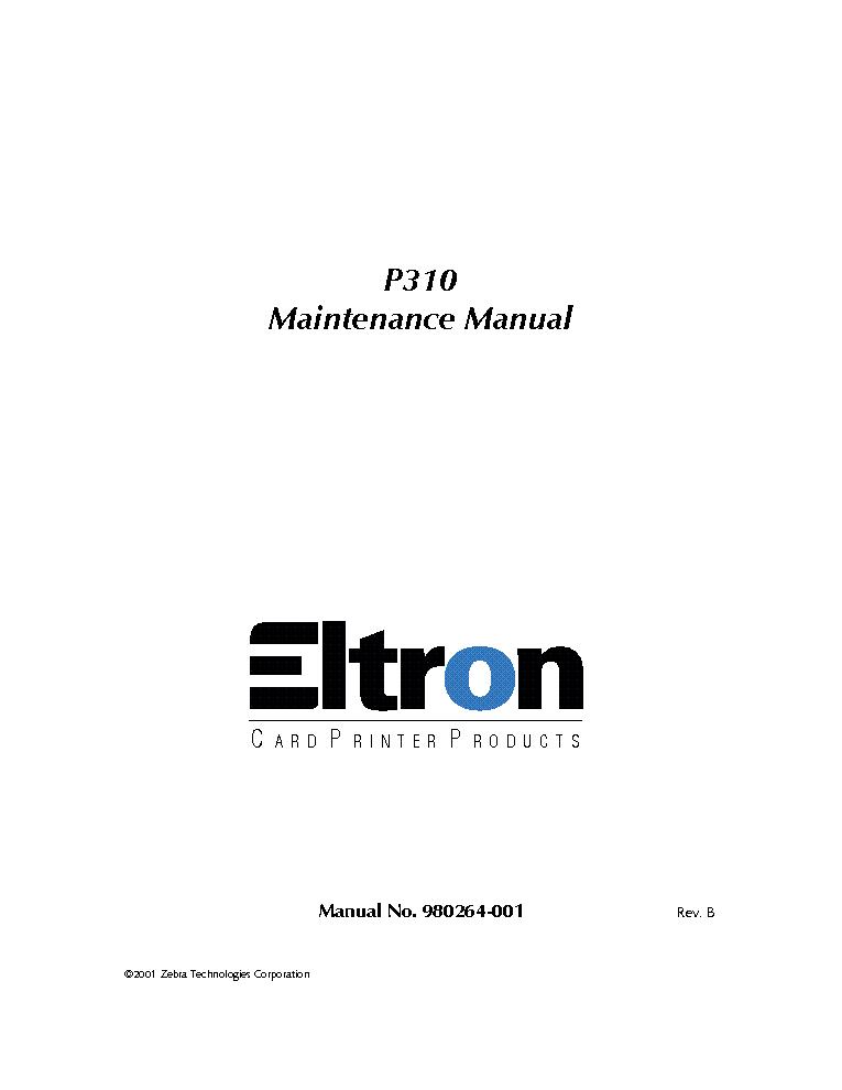 eltron p310 maintenance service manual download schematics eeprom rh elektrotanya com eltron p310 service manual Sparco P310