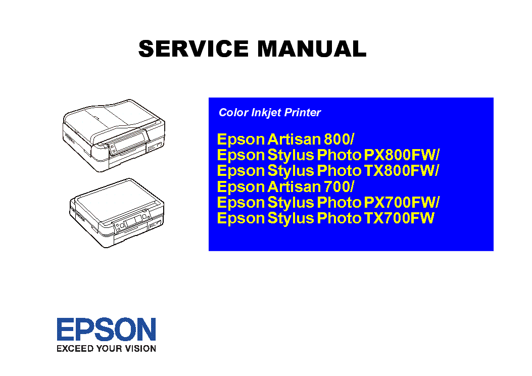 epson artisan 700 800 px800fw tx800fw px700fw tx700fwl service rh elektrotanya com  epson artisan 700 printer manual