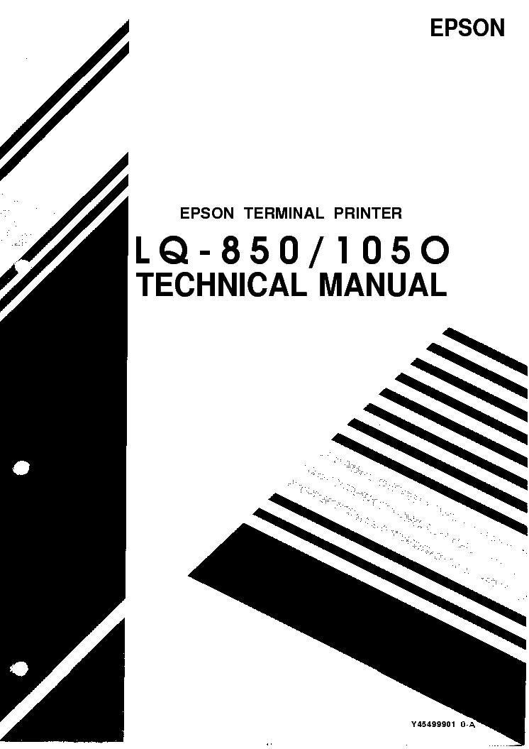 EPSON LQ-850-LQ-1050 service manual (1st page)