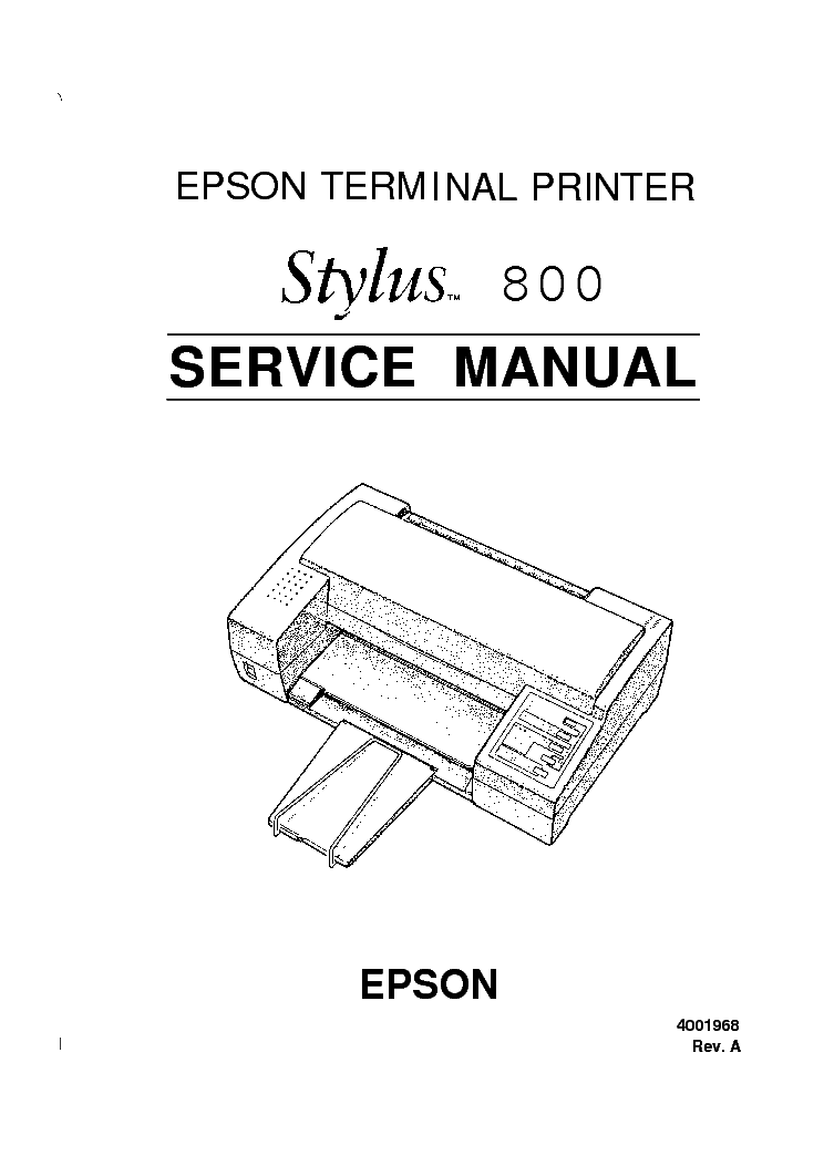 EPSON STYLUS 800 SERVICE