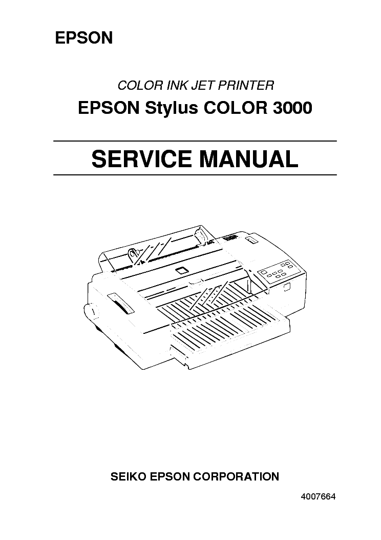 Epson Stylus Color 3000 Service Manual Service Manual Download  Schematics  Eeprom  Repair Info