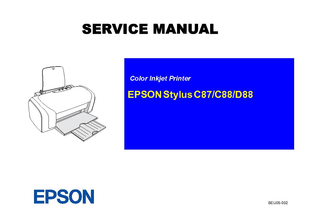 epson stylus color c87 c88 d88 service manual download schematics rh elektrotanya com epson c88 printer manual epson c88+ manual