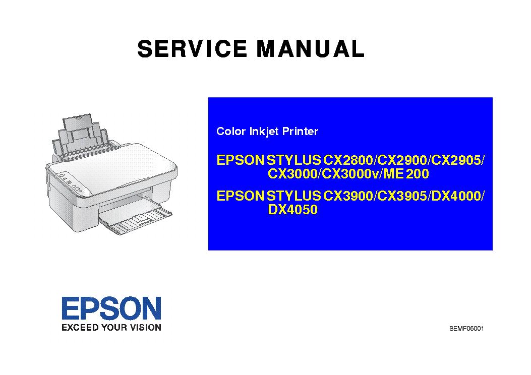 epson stylus cx2800 cx2900 cx2905 cx3000v me200 cx3900 cx3905 dx4000 rh elektrotanya com epson service manual pdf l220 l350 service manual epson