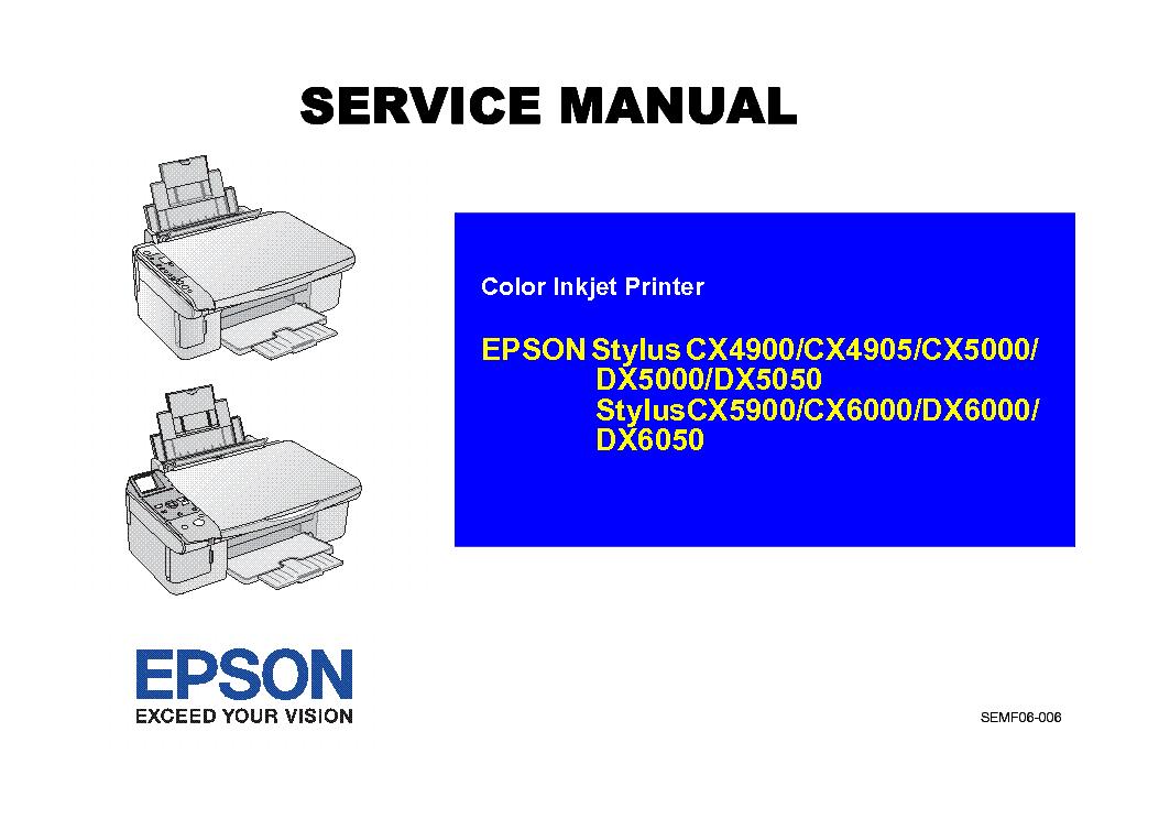 epson stylus cx4900 cx4905 cx5000 cx5900 cx6000 dx5000 dx5050 dx6000 dx6050 sm service manual. Black Bedroom Furniture Sets. Home Design Ideas