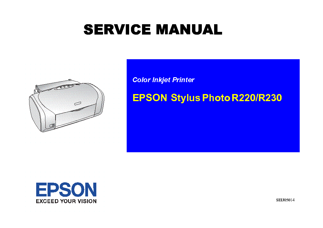 epson stylus photo r220 r230 service manual download schematics rh elektrotanya com Harga Epson R230 Secend Epson R800