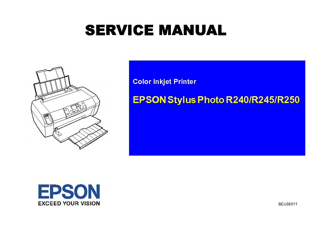 Epson Stylus Photo R240 245 250 Service Manual Download Manual Guide
