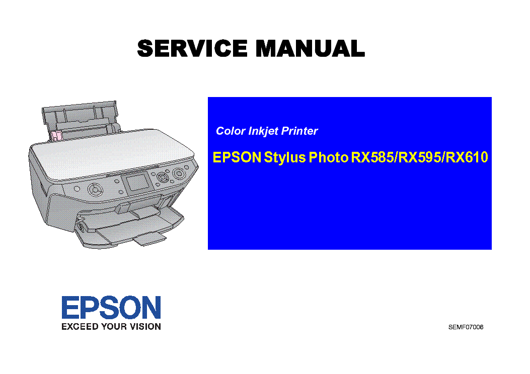 Epson Stylus Photo Rx585 595 610 Service Manual Download Manual Guide