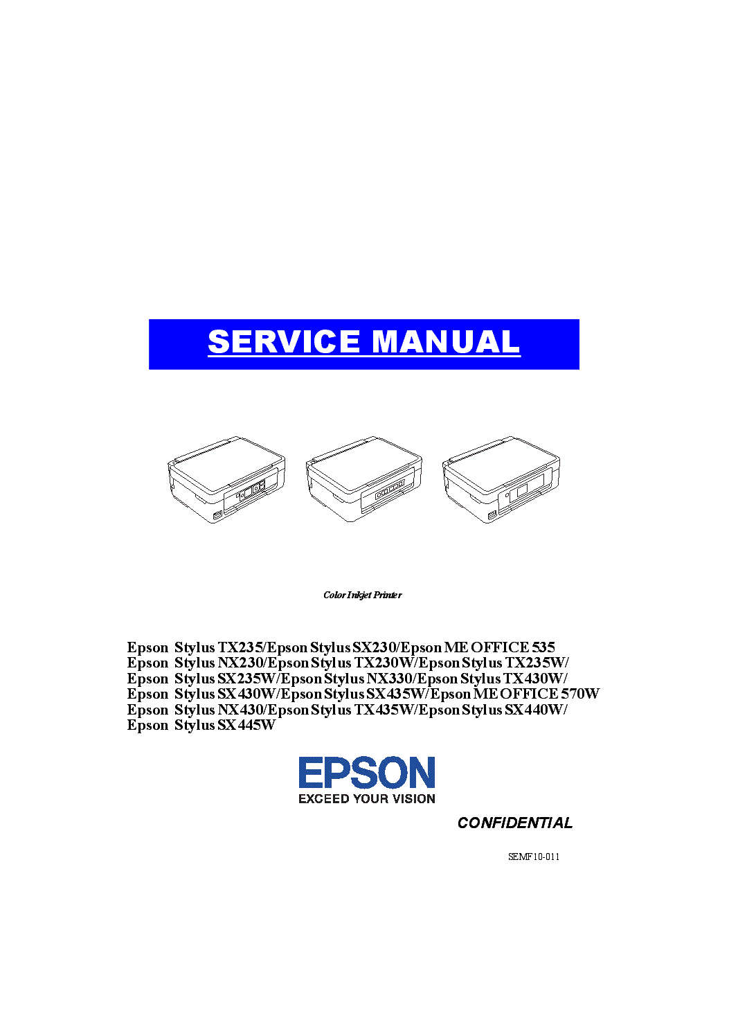 Epson nx430 owners manual.