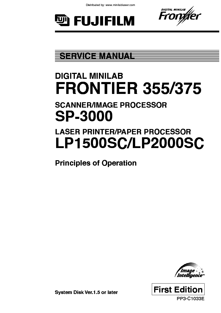 FUJIFILM FRONTIER 355 375 SP-3000 LP1500SC LP2000SC Service Manual