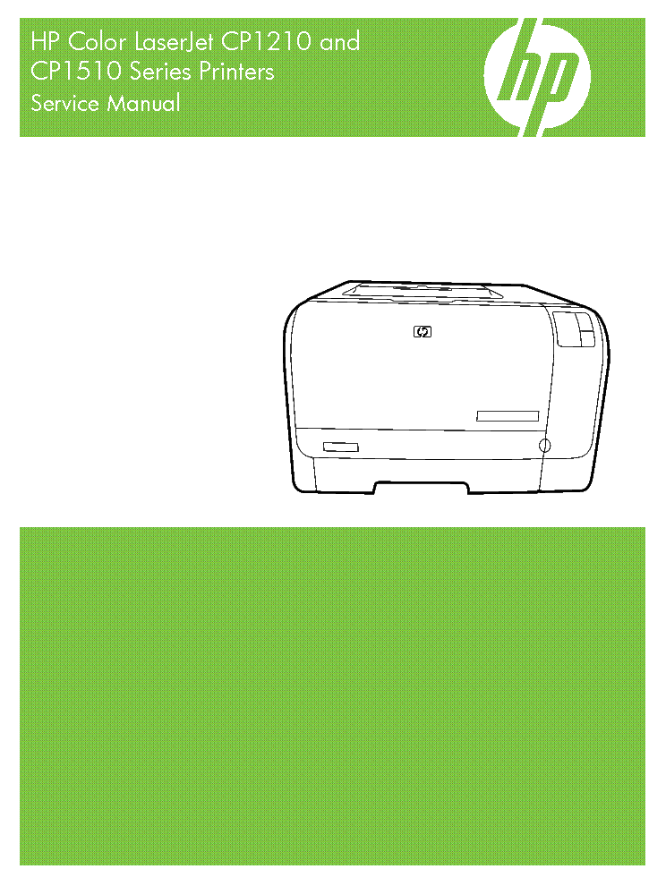 HP COLOR LASERJET CP1215  CP1515 SERVICE MANUAL service manual