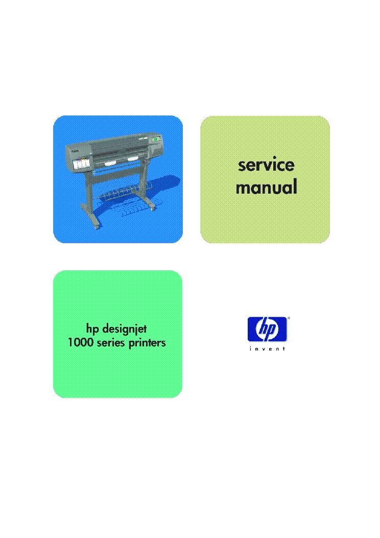 Hp Designjet 1000 Series Sm Service Manual Download  Schematics  Eeprom  Repair Info For
