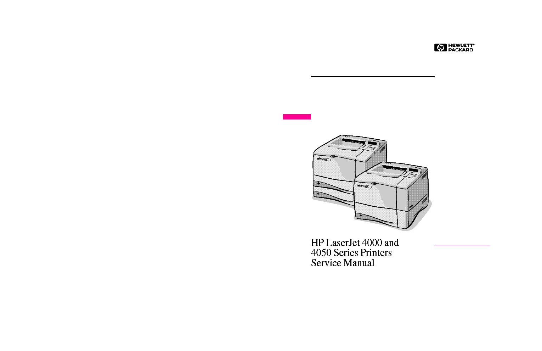 HP LASERJET-4000 4050-SERIES