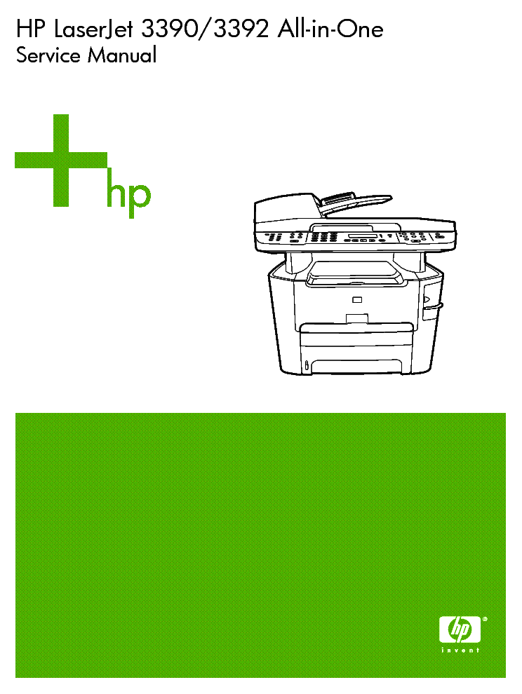 Hp laserjet 3390 and 3392 maintenance kit instructions.