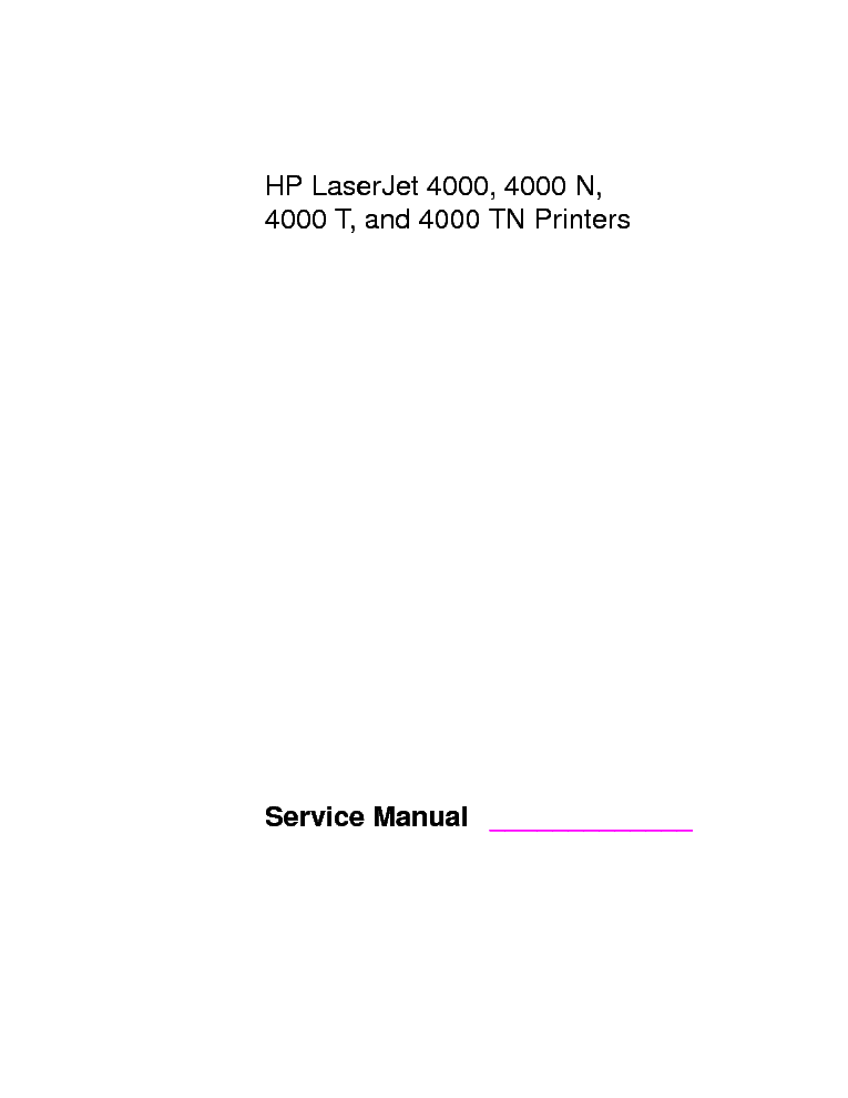 hp laserjet 4100 printer service manual