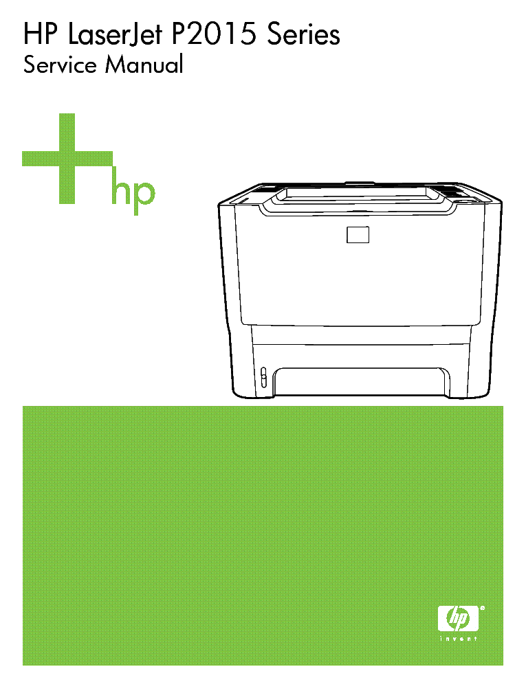 HP LASERJET P2014 SERVICE MANUAL PDF