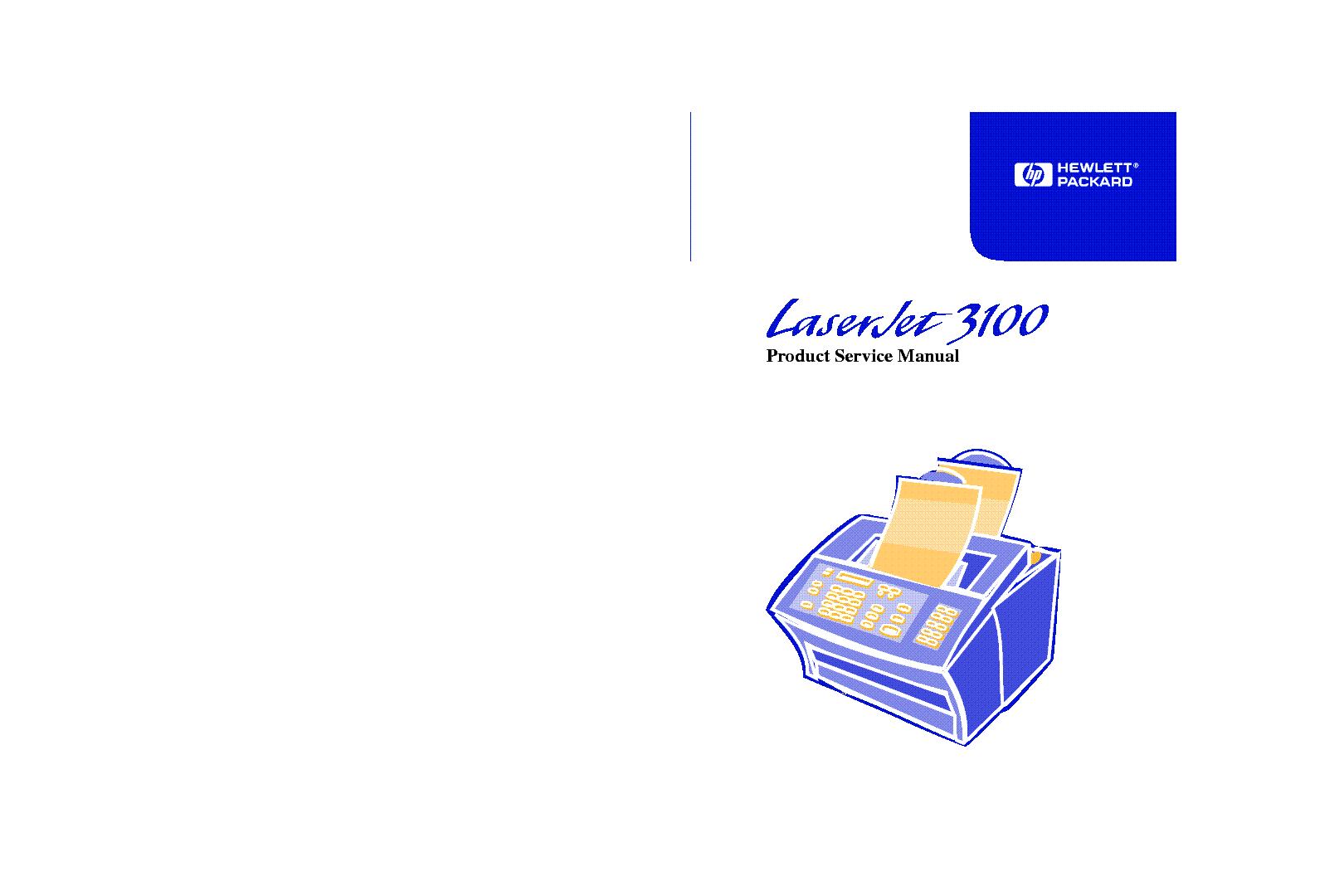 HP LJ3100 SERVICE MANUAL