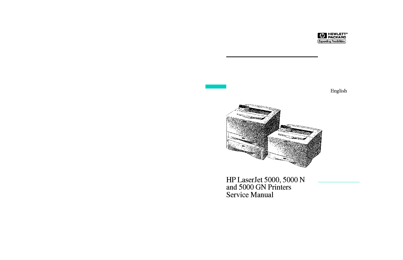HP LJ5000 SERVICE MANUAL