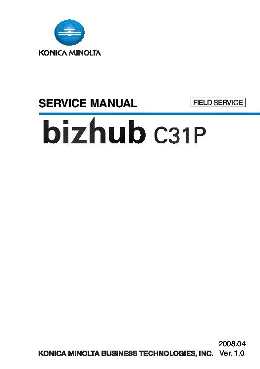 KONICA-MINOLTA BIZHUB 423 363 283 223 Service Manual