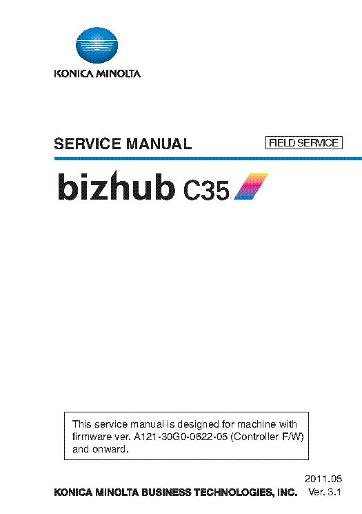 konica minolta bizhub c35 ver 3 1 field sm service manual download rh elektrotanya com konica minolta bizhub c35 service manual pdf konica minolta bizhub c35 service manual pdf