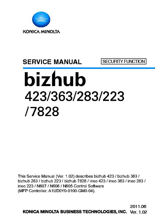 konica minolt bizhub 423 363 283 223 7828 sm service manual download rh elektrotanya com bizhub c353 service manual bizhub 421 service manual
