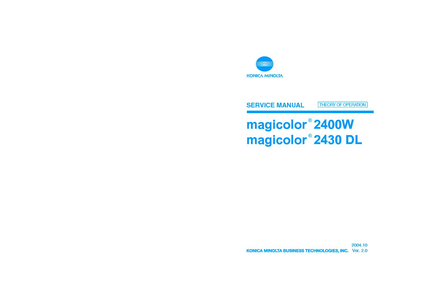 KONICA MINOLTA 2400W 2430 DL SM service manual (1st page)